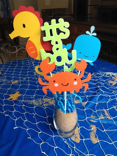 the sea baby shower centerpieces by here4theparty on