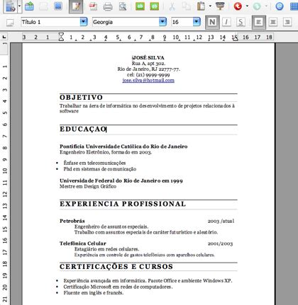 Modelo Curriculum Espa A pin pin curriculum vitae 2011 formato chile picture to