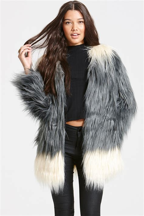 Faux Fur by Grey Ombre Faux Fur Jacket From Uk