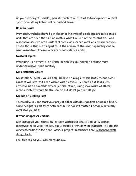responsive design font units 9 principles of responsive web design