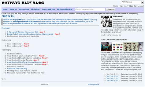 blogger daftar cara membuat daftar isi blog ditilkan pada satu halaman