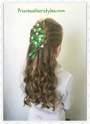 christmas tree girls hair do tree hairstyle hairstyles for princess hairstyles