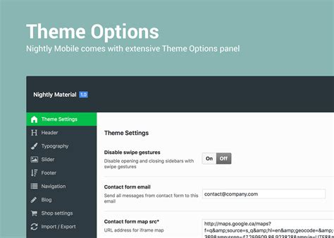 themes your mobile nightly material mobile theme for wordpress by