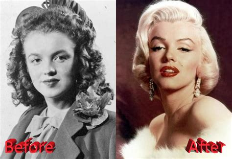 marilyn monroe plastic surgery a shooting star