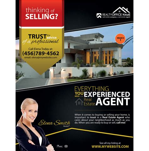 real estate flyer sles real estate agent flyer sles