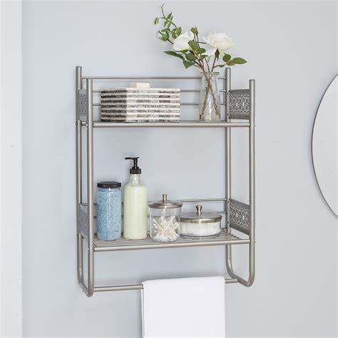 shelves for bathroom magnolia bathroom collection wall shelf nickel oaks