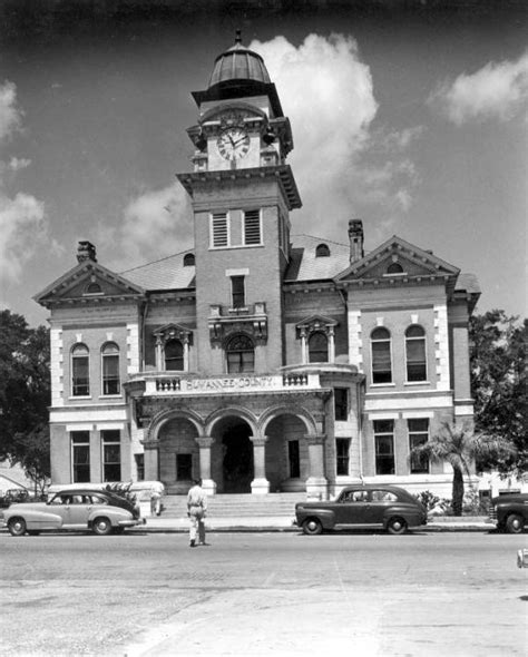 Suwannee County Court Records Florida Memory Suwannee County Courthouse Facing East On