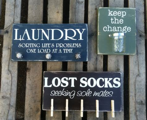 diy lost socks sign laundry sign trio lost socks keep the change sorting