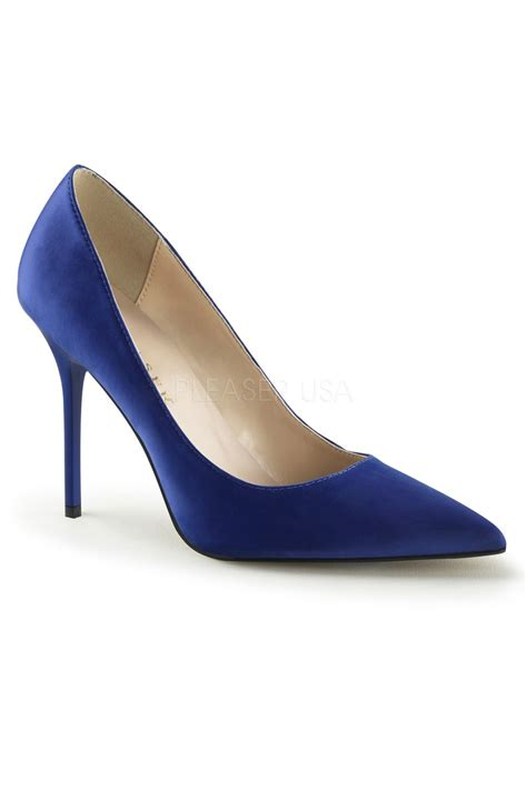 blue satin high heels royal blue satin pointed toe high heels
