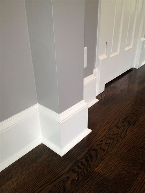 Historic trim details. Our baseboards are actual wood (not