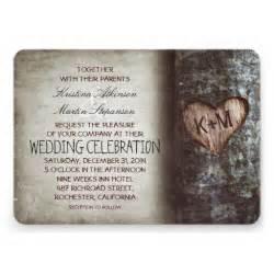 rustic wedding invitations tree rustic wedding invitations 5 quot x 7 quot invitation card