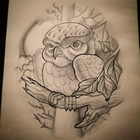 tattoo new view 35 best new school owl tattoo sketches images on pinterest