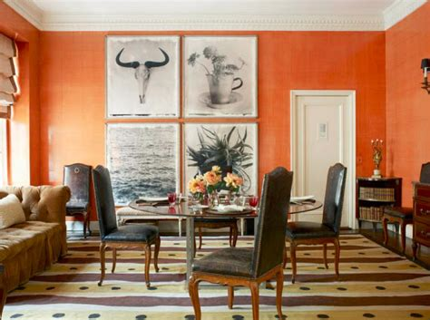 tom scheerer tom scheerer decorates orange dining room simplified bee