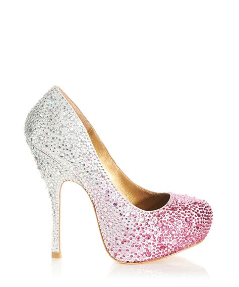 high heel sales benjamin fuchsia and silver high heels designer