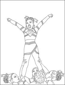 cheerleading coloring pages cheerleading coloring pages