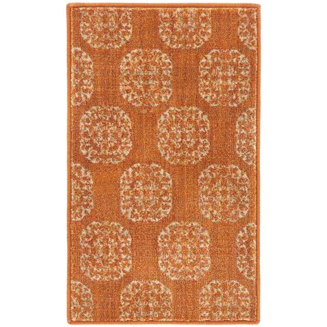 home accent rug collection home decorators collection essex medallion rust 1 ft 10