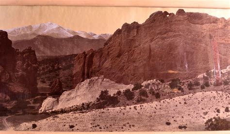 Garden Of The Gods Vandalism William Henry Jackson Especially Commissioned Denver And