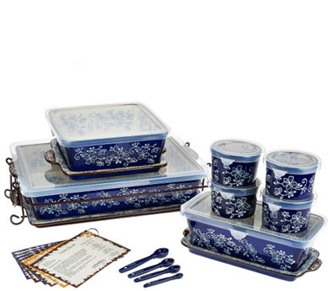 temp tations oven to table set temp tations floral lace 16 pc essential oven to table set