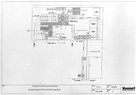 general layout of a report fig 2 general layout of concrete batching plant