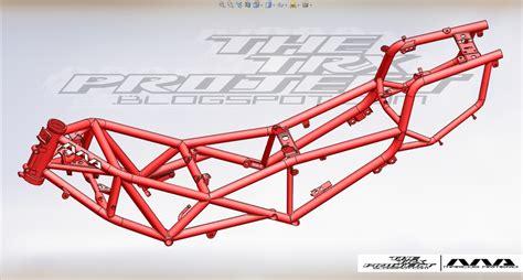 trellis pattern frame yamaha trx 850 trellis frame stl step iges 3d cad