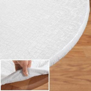 Quilted Table Protector by New Fitted Elasticized Table Pad Quilted Vinyl Oval