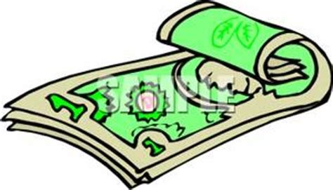 a rolled up dollar bill royalty free clipart picture