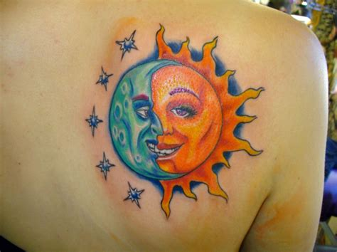 sun moon tattoo sun tattoos