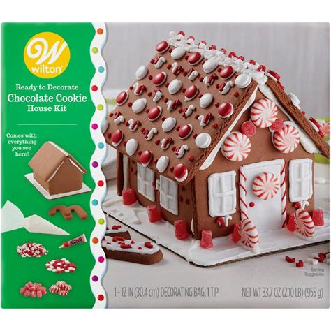 ready  decorate chocolate cookie house decorating kit