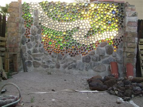 what are walls made of bottle wall garden design pinterest
