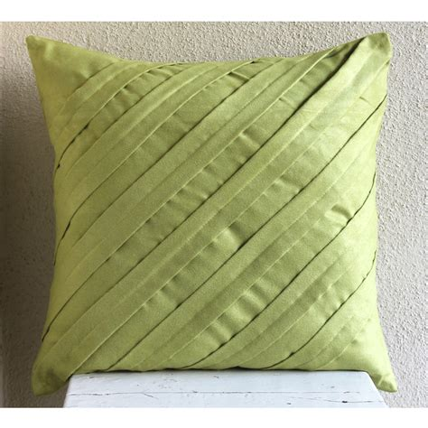 green pillows for couch handmade apple green throw pillows cover textured pintucks