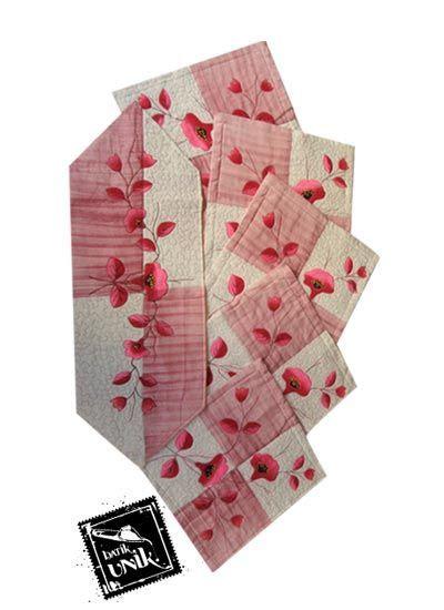 Kaos Kursi Murah sarung bantal kursi batik motif batik lukis bunga promo