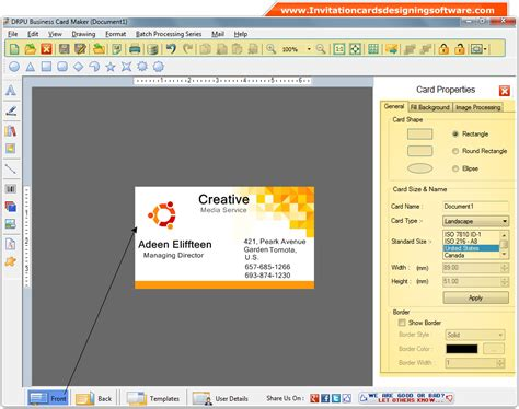 Gift Card Software - business cards designing software make visiting corporate commercial marketing cards