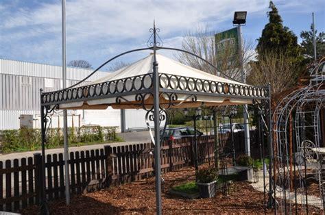 pavillon verzinkt gartenpavillon metall verona schwarz verzinkt