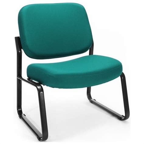 Teal Armless Chair by Reception Armless Guest Chair In Teal 409 802