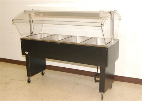 used steam tables eagle 4 bay electric steam table w sneezeguard 64 quot ebay