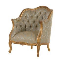 versailles armchair with green upholstery