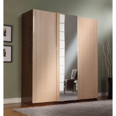 Closet Cabinets With Doors Bedroom Bedroom Closet Design With Brown Maple Wood Cabinet Designed With Mirror Also Gray Rug