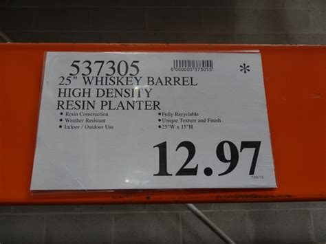 Costco Whiskey Barrel Planter by Whiskey Barrel Resin Planter Price Reduction Alert