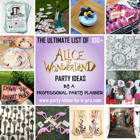 party tips 100 alice in wonderland party ideas by a professional party planner