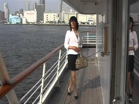 crossdresser cruises crossdresser megu at the deck of the ship mod youtube