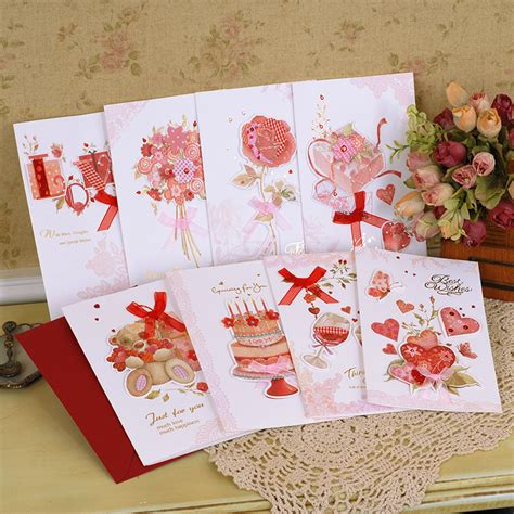 Sweet Handmade Cards - buy wholesale friends cards from china