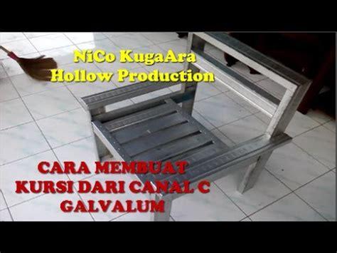 cara membuat jemuran dari almunium cara membuat kursi dari canal c atau baja ringan part 1