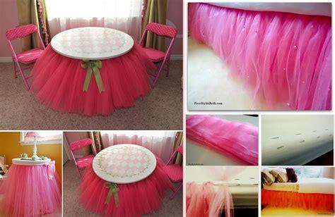 Diy Table And Bed Tutu by Wonderful Diy A Pretty Non Sew Tutu