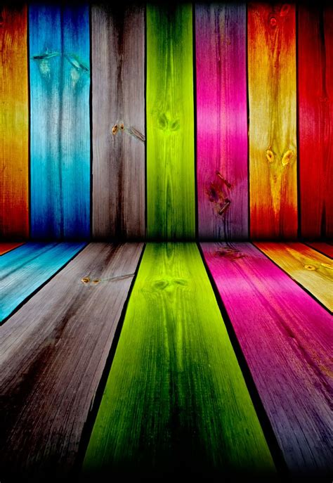 rainbow wall wood neon paint colors