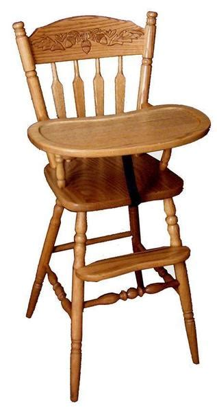 acorn wooden high chair  duthcrafters amish