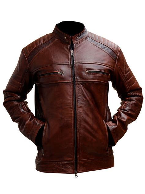 mens moto mens biker vintage motorcycle distressed brown cafe racer