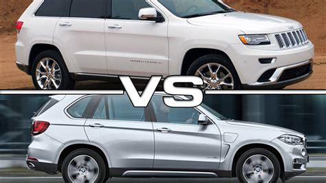 bmw jeep 2015 2016 jeep grand vs 2015 bmw x5