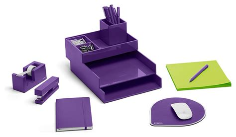 purple right start modern desk accessories by poppin