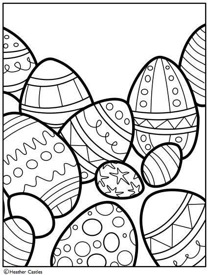 coloring pages easter pdf illustrationcastle 187 free easter coloring page