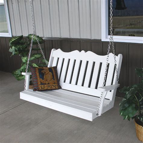 4ft porch swing recycled plastic royal english 4ft porch swing